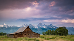 Moulton Barn (Jeremy Duguid) Tags: grand teton national park jackson hole wyoming moulton barn travel nature landscape mountain mountains sunrise morning dawn colors clouds wy west western usa rural outdoor outdoors hiking