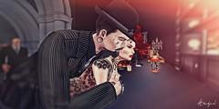 Bar Flies (DiabhalsAingeal ♥ DevilsAngel) Tags: secondlife sl avatar bar club swing electronicwing rockabilly speakeasy boon deaddollz gabriel swallow catwa gianni maitreya redhead devil demon cx gb avenge music drinks cigarette anaposes suit pinstripes hat retro vintage sp