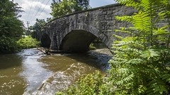 Social Island Road Bridge (trainmann1) Tags: socialislandroad chambersburg pa pennsylvania nikon d7200 tokina 1116mm amateur handheld august summer 2018 outside outdoors trees bridge onelanebridge stonebridge stone stonearch arch road old antique relic