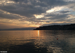 A sunset in August (borisnaumoski) Tags: ohrid macedonia lake town sunset sky summer august nature