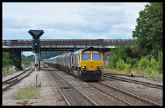 66701 (Lewis_Hurley) Tags: england uk yorkshire diesel freight railway train station hatfieldstainforth empty coal gbrailfreight gbrf 4r79 shed 66701 66 class66