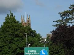 Singular viewpoint (Phil Gayton) Tags: view sky tree building sign church tower stmarys castle totnes devon uk