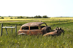 Parked (Marv R Penner) Tags: relic antique auto car abandoned saskatchewan nikon d800e