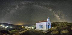 Sky panoramic (n.pantazis) Tags: sky stars panorama galacticarch milkyway starscape nightscape andros island korthion korthi night light streetlamps ice stitched