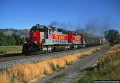 Highball Riverton (jamesbelmont) Tags: utahrailway emd sd40 rut611 riverton draper utah railway drgw