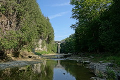 Elora Gorge (alex_7719) Tags: water sky landscape river elora eloragorge irvinecreek grandriver creek gorge canyon bridge trees ontario canada канада онтарио мост каньон