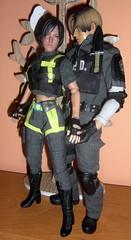Ada and Leon (Ewelina G.) Tags: ooak residentevil customfigure 16scale