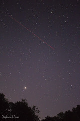 Jupiter and the Plane (StephanieHowes) Tags: astrophotography sky planet stars trees airplane plane night nightsky