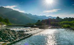 閃耀 Shine (葉 正道 Ben(busy)) Tags: sky water mountain creek sun grass 天空 水 山 溪 太陽 草 taichung taiwan 台中 台灣 風景 landscape