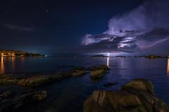 On the beach... (Tobi Becq) Tags: strand istrien kroatien beach croatia istria nightscape uww ultrawideangle longexposure milkyway thunderstorm