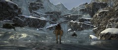 Icy Chocobo Ride (OwltheCaped) Tags: chocobo finalfantasyxiv ffxiv mountain snow