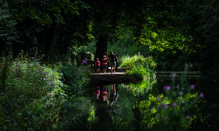 Family Reflections at Cromford Canal.   ( Explored 4.8.18 )