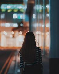 Behind back (31lucass shots) Tags: vsco city hype cityscape orchardroad singaporeimages singapore explore streetphotography nightview portrait snapshot streetsnap primelens sonycamera 85mm fe85mmf18 sonya7m2 sonya7ii sonyportraits