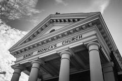 St. Monica's Catholic Church - Cameron, Texas (lonestarbackroads) Tags: building church catholic christian religious religion portico texas