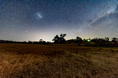 Milky Way and countryside (Merrillie) Tags: night glitter landscape winter astrophotography stars rural tree newsouthwales astro paddock nightsky countryside country astronomy outside trees astrology milkyway fields gresford farm nsw outdoors australia sky