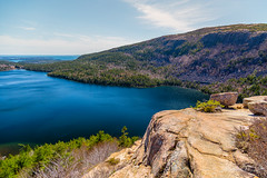 Jordan Pond from South Bubble (ProPeak Photography - Thanks for 800,000 views!) Tags: acadianationalpark america atlanticocean blue blueskies bluesky clouds easternway famousplace forest granite green internationallandmark jordanpond jordanpondhouse landscape maine mountdesertisland nature newengland northamerica orange penobscotmountain pink road rocks sealharbor southbubble spring touristattraction traveldestination travelandtourism trees usa water yellow