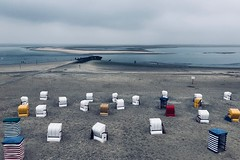 North Sea (camerue) Tags: farben sand meer wasser strand borkum nordsee strandkorb