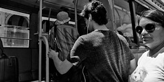 All aboard. (Baz 120) Tags: candid candidstreet candidportrait city candidface candidphotography contrast street streetphoto streetphotography streetcandid streetportrait strangers sony a7 rome roma europe women monochrome monotone mono noiretblanc bw blackandwhite urban life primelens portrait people italy italia girl grittystreetphotography faces decisivemoment