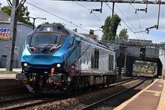TPE Class 68032 @ Mossley Hill (Liam Blundell Photography) Tags: tpe class 68 cat 68032 mossley hill railway station train 0k29 wavertree jn crewe cs shiny new supershot