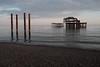 West Pier ruins (Gary Kinsman) Tags: fujix100t fujifilmx100t brighton eastsussex 2018 people person pier westpier ruin sea beach seaside englishchannel landscape urbanlandscape newtopographics topographics sunset dusk evening