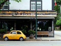 Italia (knightbefore_99) Tags: viatevere italian italy restaurant heart cool vancouver eastvan pizza naples victoria drive best popular car fiat flag napoletano
