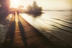 contre-jour (Chrisnaton) Tags: summer gardasee lake lightandshadow eveningmood eveninglight sunset summertime sisters onthelake lakeshore contrejour