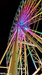 Ferris Wheel Night At Steel Pier (Yuri Dedulin) Tags: atlanticcity fun nj newjersey vacation weekend unitedstates amusement park steel pier steelpier 2018 yuridedulin night nightlife ferris wheel ferriswheel boardwalk rides games illuminated hard rock cafe entertainment food drinks helicopter