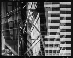Architectural abstract. (Justin Barrie Kelly) Tags: figital doubleexposure layers lightandshadow photographic justinkellyartist selfix1620 analoguefilm incameradoubleexposure overlapping ilfordfp4 blackandwhite dynamism arranged ironwork abstracted ensign lightanddark abstract justinkelly photography justinbarriekelly jbkelly quadruppleexposure justinbkelly asymmetric 125asa layered lines photograph architecture ilfosol3 homeprocessed girders architectonic bw abstraction multipleexposure photographicstructure blackandwhitephotography geometric