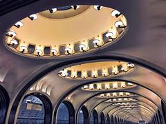 Mayakovskaya (Don César) Tags: russia moscow metro moscu subway architecture arquitectura glamour classy repeting majakovskaja 24hoursinthelandofthesoviets