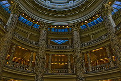 Idaho State Capitol, 700 W Jefferson Street, Boise, Idaho, USA / Completed: 1912, 1920 (Wings) / Architects: John E. Tourtellotte & Charles Hummel / Height: 208 feet (63 m) / Floor area: 201,720 sq ft (18,740 m2) (Photographer South Florida) Tags: idahostatecapitol marble publicbuilding 700wjeffersonstreet boise idaho usa completed1912 1920wings johnetourtellotte charleshummel height208feet63m floorarea201 720sqft18 740m2