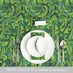 Verdant Victorian vegetation by Alex Morgan (Spellstone) Tags: plant classic victorian green blue vegetal flora scroll scrollwork botanical furnishing décor spellstone spoonflower roostery art craft design surface pattern society6 alexmorgan pillow cushion phonecase textile fabric wallpaper totebag tote clock wallclock mug rug pouch laptopskin clothing apparel sewing curtains