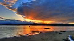 Beautiful winter sunset over the bay ('phone camera pic) (elphweb) Tags: hdr highdynamicrange phone phonecamera nsw australia water ocean beach bay creek river sea skies sand sky winter clouds sunrays sun