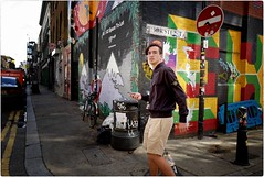 Boy of Summer (Steve Lundqvist) Tags: english london londra inghilterra england uk britain british street streetphotography life beautiful beauty fashion moda mood attractive hair location contact people cover model atmosphere ambiance seductive young cute lifestyle intimacy boudoir shooting posh beau portrait ritratto hairstyle frame pose posed leica q pub boy man stone island jacket shorts menswear draw drawing open wall muro murales graffiti social europa europe