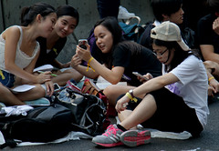 Girls at the Protest (cowyeow) Tags: protest occupy hongkongprotests hongkongprotest occupyhongkong occupycentral politics political umbrellamovement democracy dissent student students news street city central hongkong china chinese asia asian 香港 people girl woman candid pretty cute attractive young beautiful smile admiralty