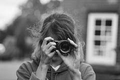 The Hunter Becomes the Hunted (pigpogm) Tags: mxpp photography blackandwhite camera lauren model monochrome photographer sonynex woman