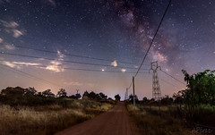 The road (antoniopérezsánchez) Tags: víaláctea milkyway nocturna night nikond5500 extremadura mérida camino