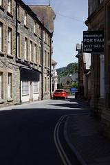 Photo of A Blue Shadow In The Street, Lynton, North Devon, 21/6/2018.