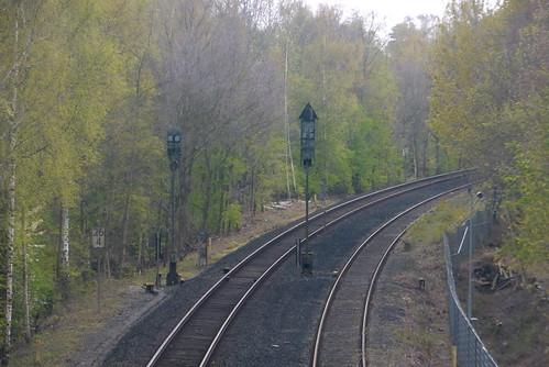 DB: Vogelfluglinie: Nördliche Ausfahrsignale des ehemaligen Bahnhofs Sierksdorf