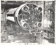 a01/a05 (AS-204)_v_bw_o_n (unnumbered, verso stamped DEC 3 1965) (apollo_4ever) Tags: mannedspacecraft spacerace rocket hardhats h1engine h1engines nasafacility nasarocket nasa lm1 humanspaceflight mannedspaceflight unmannedrocket boosterrocket boosterstage firststage saturnrocket h1rocketengine h1rocketengines michoudassemblyfacility sib4 apollo1 apollo5 as204 sa204