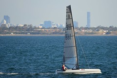 800_4935 (Lox Pix) Tags: queensland qld australia catamaran trimaran hyc humpybongyachtclub winterbash loxpix foilingcatamaran foiling bramblebay sailing race regatta woodypoint boat