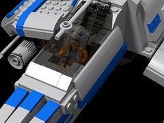 E-Wing Cockpit (wycliffe76) Tags: lego starwars star wars moc legends starwarslegends ewing