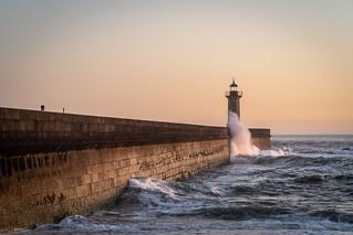 Last light over the lighthouse