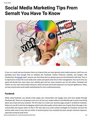 Social Media Marketing Tips From Semalt You Have To Know (unkautomobile) Tags: semalt seo marketing tips