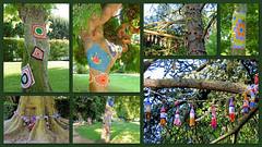 Arbres en couleurs (Raymonde Contensous) Tags: issoire squarerenécassin jardinspublics exposition auvergne puydedôme arbresencouleurs graffitricot