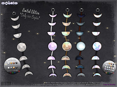 [ bubble ] Moon Phase Wall Hanging Decor (::: insanya ::: & [ bubble ]) Tags: secondlife bubble originalmesh accessories decor walldecor moon phases mesh hud limitededition exclusive limit8