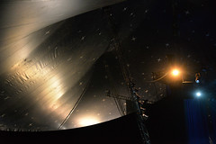 Reach for the stars (PentlandPirate of the North) Tags: weirdorwhat circus tent bigtop hesdoingone universe thebigtent likeaspacestation stars ladder