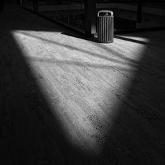 Triangular (arbyreed) Tags: arbyreed monochrome bw blackandwhite shadow light shade abstract minimal contemplativephotography bin dustbin trash trashcan