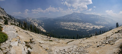 Hiking switchbacks up the side of Tuolumne Peak (jenesizzle) Tags: view mountains switchbacks granite yosemite yosemitenationalpark nationalpark highsierracamps highsierracamp highsierra highcountry backcountry landscape outdoors hiking trail forest