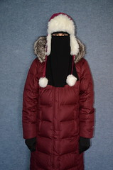 Slave Girl (Warm Clothes Fetish) Tags: slave sweat maid torture hijab niqab boots coat fur hot apron fleece girl warm clothed washerwoman suit waitress hat