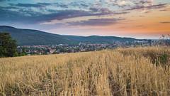 Slovakia, Sunset over Partizánske